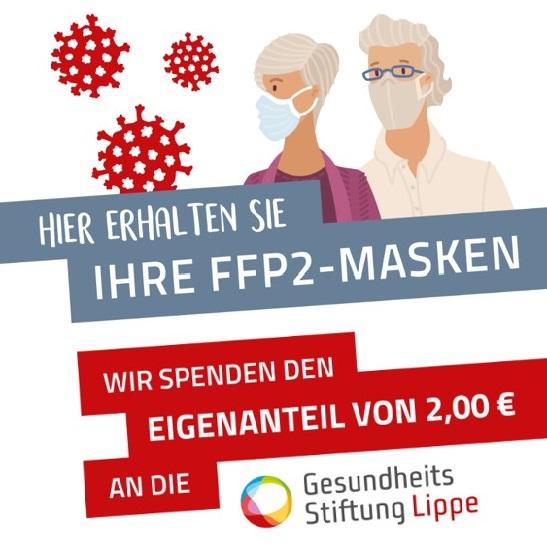 FFP2-Masken – Coupon einlösen und GUTES tun!